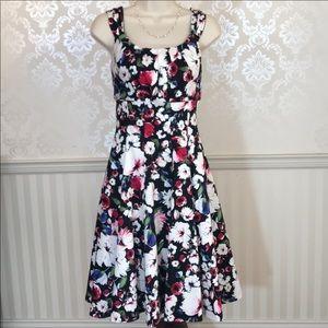 WHBM Sleeveless Floral Cotton Dress
